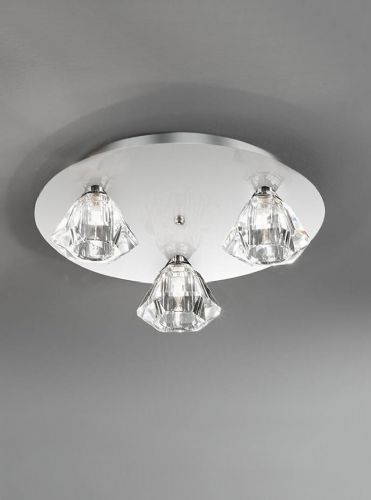Franklite FL2243/3 Chrome Ceiling Light